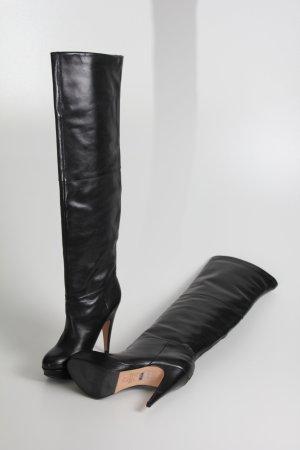 schwarzer Overknee-Stiefel