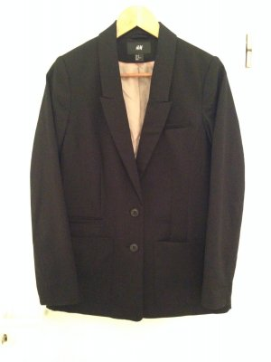 Schwarzer Oversize-Blazer mit Viskose von H&M in Größe 40