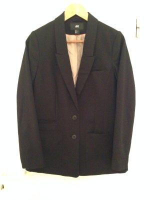 Schwarzer Oversize-Blazer von H&M in Größe 40