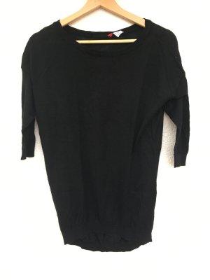 schwarzer oversize pullover von h&m