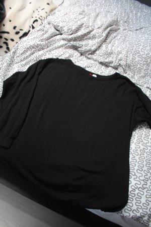 Schwarzer Oversized Pullover