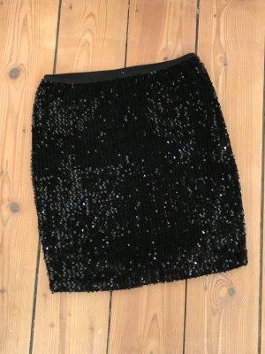 schwarzer Pailettenrock ONLY