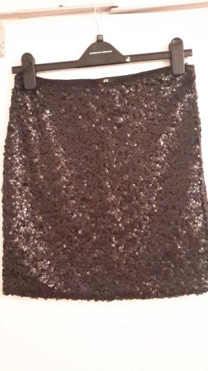 schwarzer Pailletten-Minirock