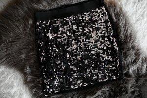 Clockhouse High Waist Skirt black-silver-colored