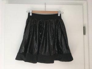 Schwarzer Paillettenrock - ungetragen