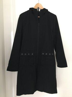 H&M Divided Abrigo con capucha negro tejido mezclado