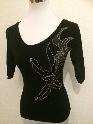 H&M Longesleeve zwart-zilver