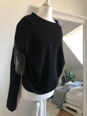 Zara Long Sweater black-silver-colored