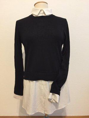 Hallhuber Maglione nero-bianco