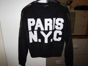 Schwarzer Pulli PARIS N.Y.C