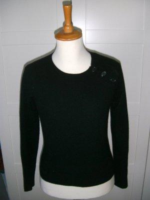 schwarzer Pulli, Pullover, H&M, Gr. 34