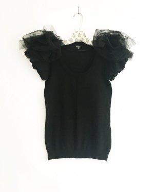 Vintage Jersey de manga corta negro