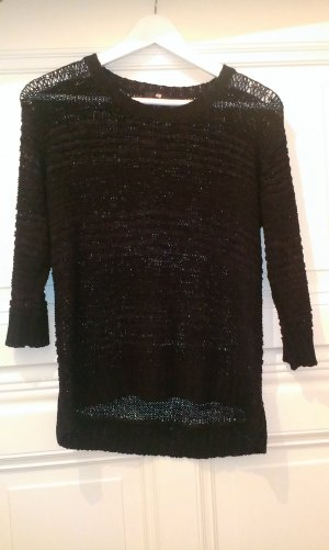 Schwarzer Pullover aus Grobstrick von H&M