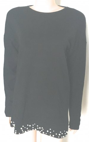 Lange jumper zwart-wit Gemengd weefsel