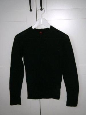 schwarzer Pullover, H&M, Wollpullover, Winterpullover, schwarz, Gr. 36