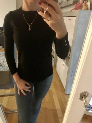 Schwarzer Pullover in Größe XS