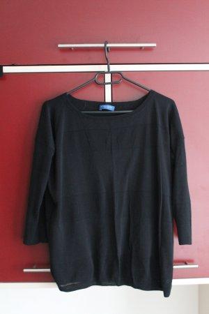 Schwarzer Pullover mit 3/4-Ärmeln