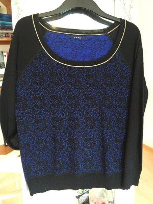 Schwarzer Pullover mit blauen Flecken von Kookai