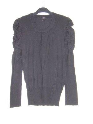 schwarzer Pullover mit gerafften Schultern von Amisu Gr. L 40 Pulli