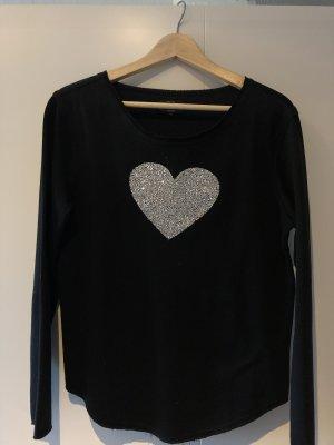 Only Jersey de lana color plata-negro