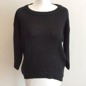 schwarzer Pullover mit Lurexfäden glänzend Vero Moda Gr. M