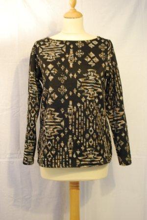 Schwarzer Pullover mit Muster VB