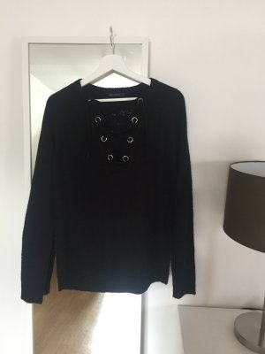 Knitted Sweater black mixture fibre