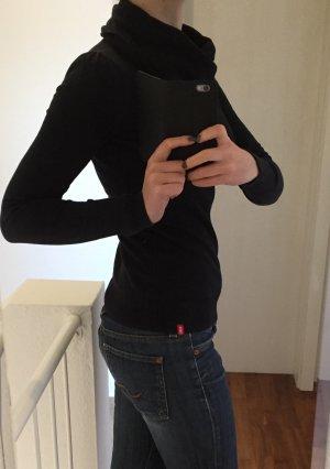 Schwarzer Pullover mit Schalkragen von EDC by Esprit / S