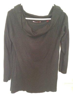 Schwarzer Pullover mit schönem Kragen