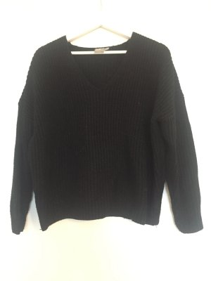 Asos Knitted Sweater black synthetic material