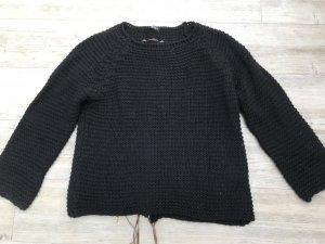 Schwarzer Pullover Strick von motivi
