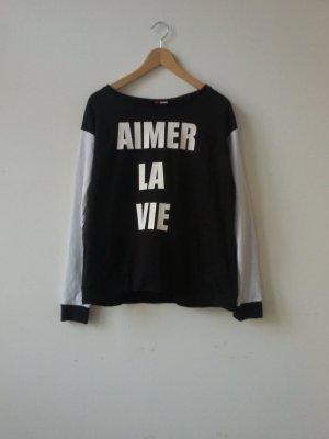 schwarzer Pullover von H&M, gr.34/36/38