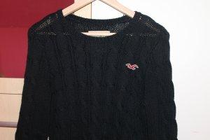 schwarzer Pullover von Hollister Größe M