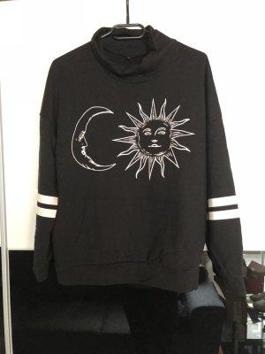 Schwarzer Pullover von Sheinside