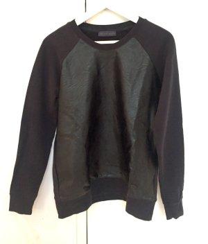 Schwarzer Pullover von Trussardi in Lederimitat