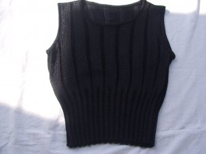 Knitted Top black viscose