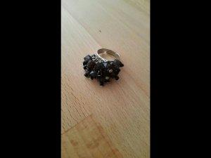 Ring zwart-zilver