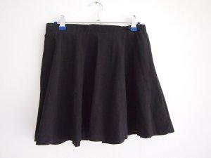 Rainbow Skater Skirt black cotton