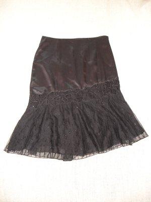 Silk Skirt black polyester