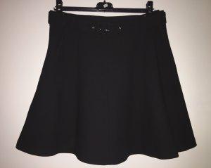 Zara Falda de talle alto negro