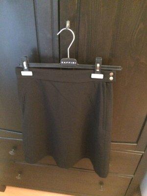 H&M Jupe taille haute noir-argenté