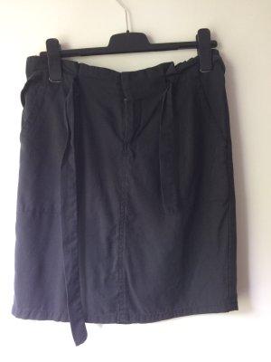 Promod Falda de talle alto negro