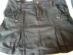 Schwarzer Rock * Jeans * kurz * Mini * Größe 38