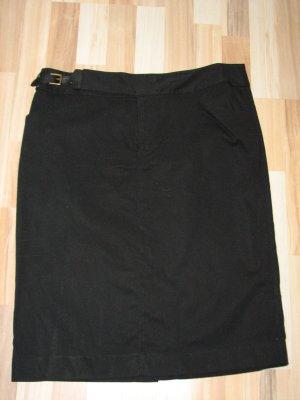 Schwarzer Rock mit hoher Taille von Ralph Lauren, Gr. 12