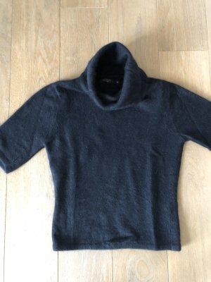 Schwarzer Rollkragen Pullover Angora von