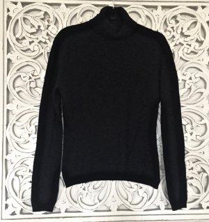 schwarzer Rollkragen Pullover von ESPRIT * Lambswool Wolle * Gr. M 36-38