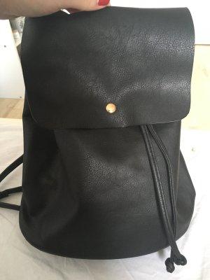 Schwarzer Rucksack