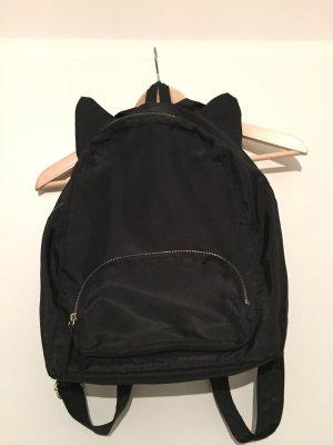 Schwarzer Rucksack aus Nylon