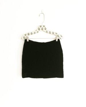 schwarzer samtrock / vintage / black velvet / classy / nichtout