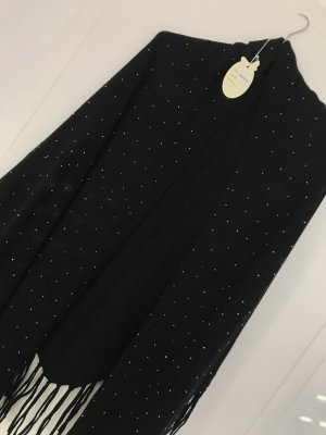 0039 Italy Knitted Scarf black